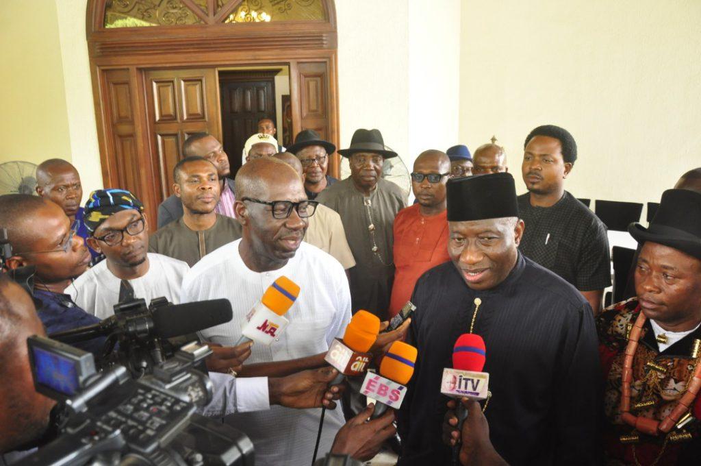 Former President Jonathan lauds Obaseki's devt