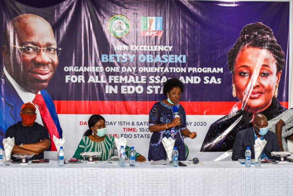 Edo First Lady admonishes over 200 female SSAs,