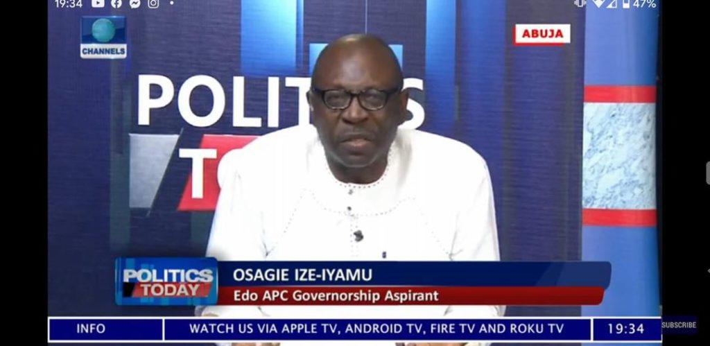 EDO2020: Edo APC Nomination, Ize-Iyamu demands