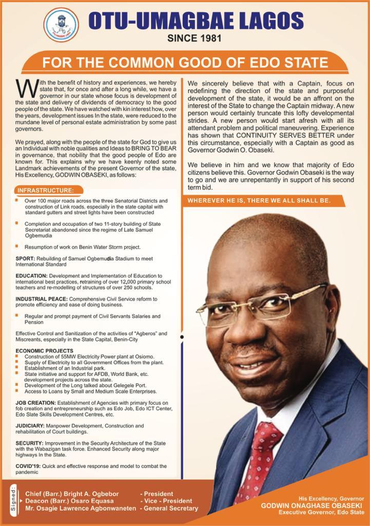 Governor Godwin Obaseki's Achievements